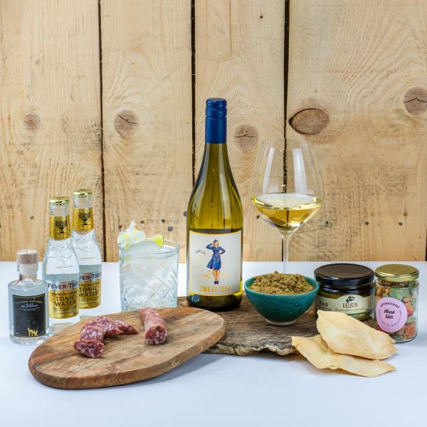 Cosy Aperobox witte wijn Luxe editie | Aperoshop