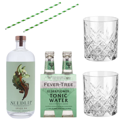 Alcohol Vrije Gin Tonic Box Seedlip Garden 94 + Elderflower Tonic