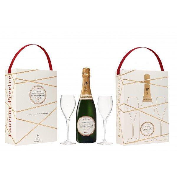 Laurent Perrier geschenkverpakking + 2 glazen 750ml
