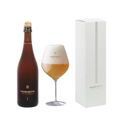 Fourchette Bier 750ml met glas