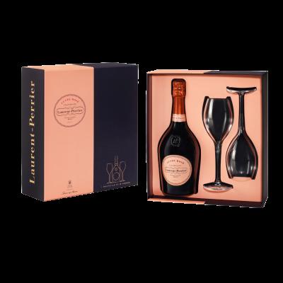 Laurent Perrier Cuvée rosé Gift pack + 2 glazen