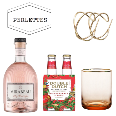 Gin & Tonic En Handgemaakte Oorbellen Set Van Perlettes